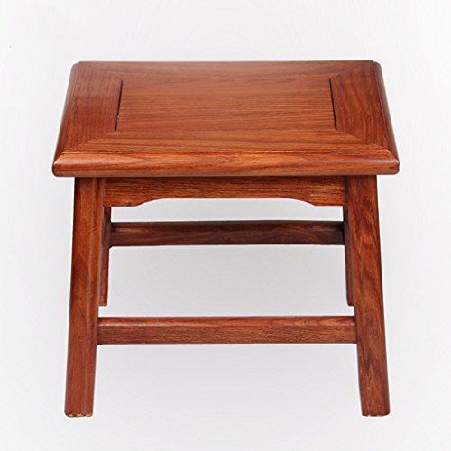 Home Mahonie kleine kruk, banken, massief hout kleine kruk, kruk, kinderstoel, rust gebied lengte 30cm, breedte 25cm