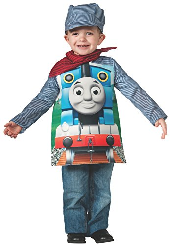 Rubies Thomas and Friends, Deluxe Thomas the Tank Engine and Engineer Costume, Child Small - Small One Color by Rubie's