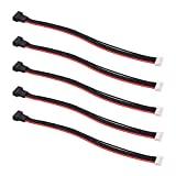 OliRC 5pcs JST-XH 4S 8' / 200mm 22awg Lipo Balance Wire Extension Silicone Cable Lead Cord for RC Battery Charger(C134-5)