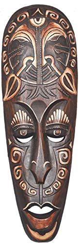 Woru Maske SENGE 50 cm, Holz-Maske aus Bali, Wandmaske
