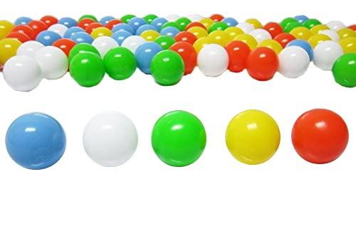 Bällebad24 - 100 palline da 6 cm, mix per bambini in asilo e commerciale, palline di plastica senza plastificanti