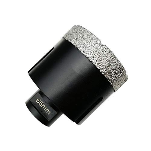 SHENYUAN 1pc Dia 65mm Vacuum brazed Diamond Dry Drilling Bits Hole Saw Drill Core bits for Ceramic Porcelain Tile Dia 2-1/2'