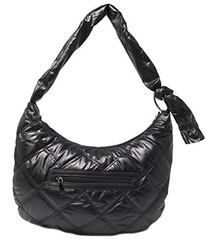 Weiche Gesteppte Tasche Gepolsterte Tasche Schwarz Modetasche Damen Tasche Sportstil Gesteppte Umhängetasche Polsterung Quilten