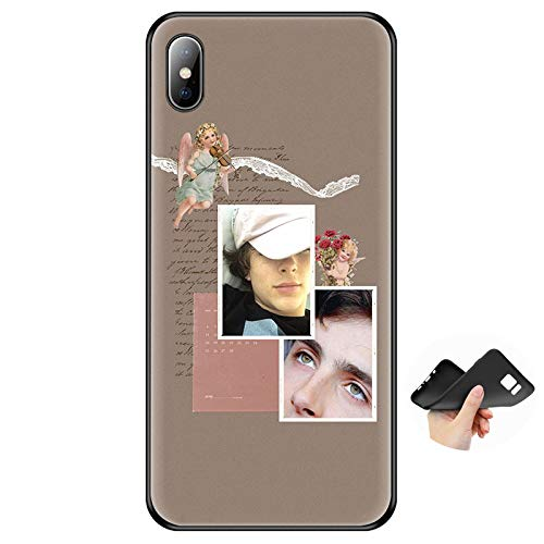 Inspired by Timothee Chalamet music Phone Case Compatible With Iphone 7 XR 6s Plus 6 X 8 9 11 Cases Pro XS Max Clear Iphones Cases TPU- Sweatshirt- Costum- White- Costume- 4000389343559