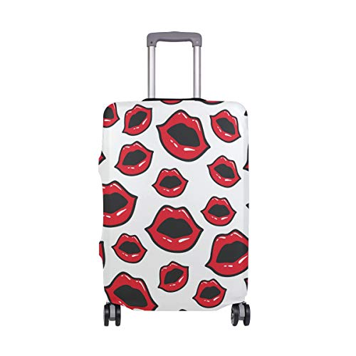 Moyyo Red Sexy Lips Luggage Cover Suitcase Protector Cover Travel Luggage Cover Elastic Suitcase Cover Washable Luggage Cover Fits 29-32 inch Luggage