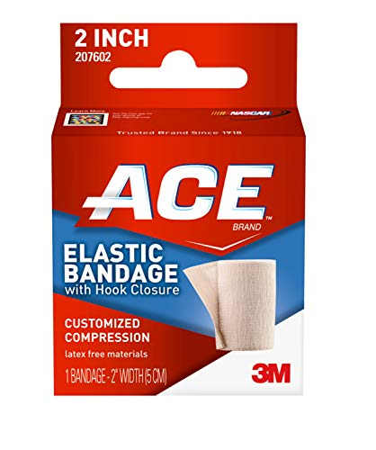 ACE-207602 Elastic Bandage 2 Inch (pack of 1) w/Hook Closure,2 Inch (Pack of 1)