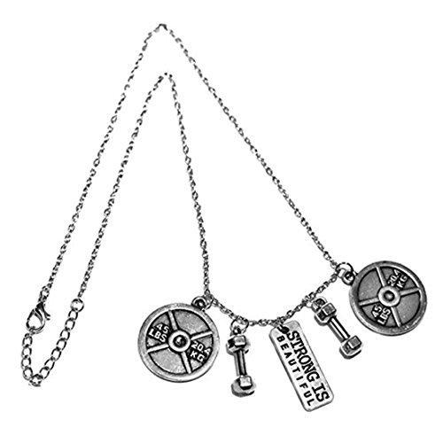 Dumbbell 45LB fuerte es hermoso collar, levantamiento de pesas, ejercicio, gimnasio, CrossFit