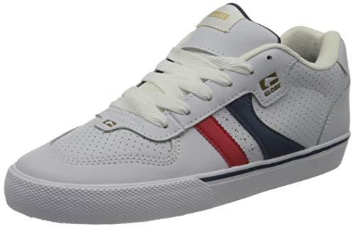 Globe Unisex Encore-2 Sneaker, Weiß/Blau/Rot, 38 EU