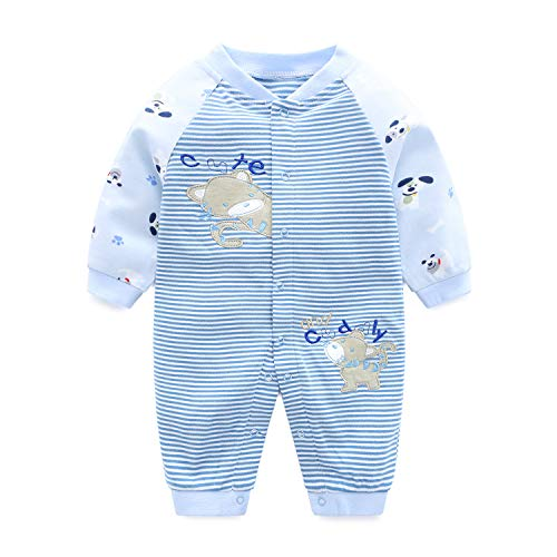 Bebé Mameluco Unisexo Mono Manga Larga Bodys Algodón Pijamas Pelele, 0-3 Meses