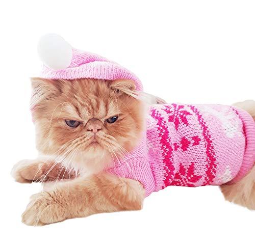 Glamour Girlz Adorable Perro Pequeño Gato Festivo Feria Isla Corazones Niña Jersey Bobble Pom Sudadera con Capucha (Rosa M)