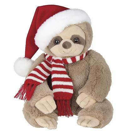 Bearington Plush Santa Sloth Christmas Stuffed Animal, 16 Inches