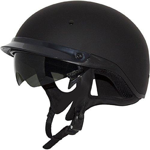 ZOX ST-235A 'Roadster DDV' Matte Black Motorcycle Half Helmet - Large