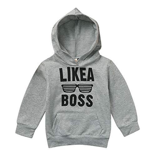 Yanhoo Kleinkind Kinder Baby Boy Brief Hoodie Sweatshirt Pullover Tops Kleidung Outfits (0-5Y) Kinder Langarm Brief Hoodie Pullover Top wie EIN Chef