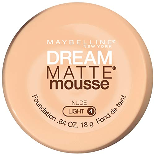 Maybelline New York Dream Matte Mousse Foundation, Nude, 0.64 Fl Oz (Pack of 1)
