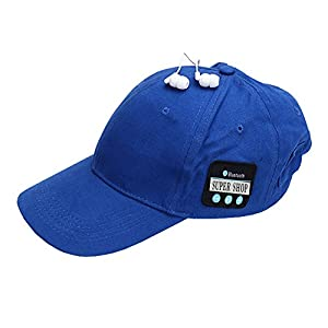 Supershop Sports Bluetooth Visor Hat with Wireless Earphone Adjustable Velcro Cap Music Speaker Mic Cap for Men and Women