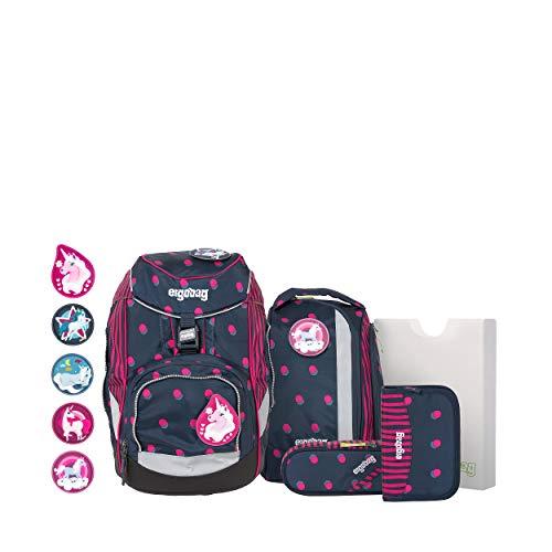 ergobag pack Set - ergonomischer Schulrucksack, Set 6-teilig - Schubi DuBär - Blau