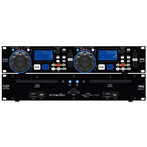 Stage-Line CD-230USB DJ Twin CD speler Anti Shock USB 2.0 Interface en SD MMC Card Slots