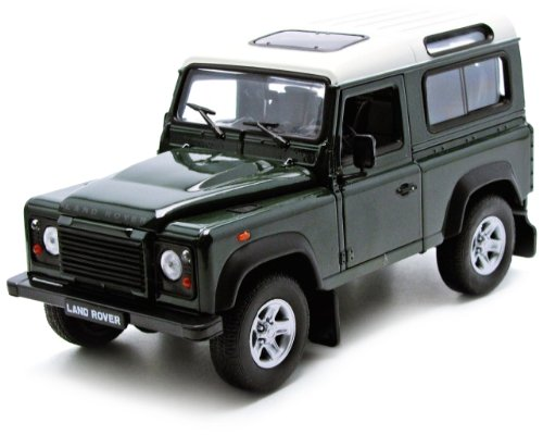 Preisvergleich Produktbild Welly Landrover Defender grün / weiß 1:24