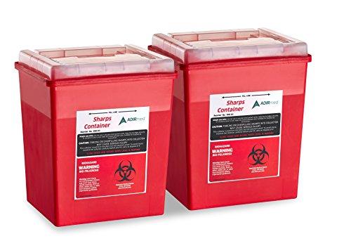 buy  Sharps Container 8 Quart Flip-Open Lid – 2 ... Diabetes Care