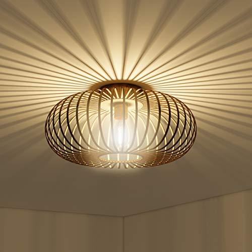 COSTWAY Deckenleuchte antik, Deckenlampe Retro Lampe Vintage Metall, Ideal für Wohnzimmer, Küche Kupferfarben / 60W / E27 Fassung
