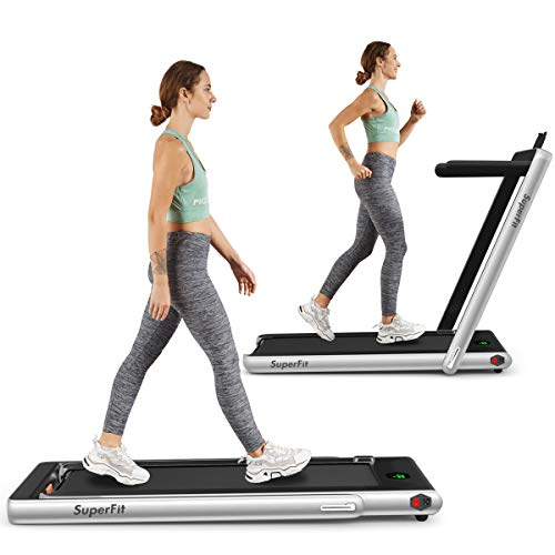 Goplus 2 in 1 Folding Treadmill, 2.25HP Under Desk Electric...