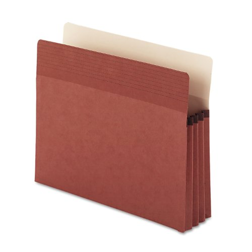 """Smead Easy Grip File Pocket, Straight-Cut Tab, 3-1/2"""" Expansion, Legal Size, Redrope, 25 per Box (73210)"""