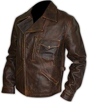 Leatheromatic s Escape New York Snake Plissken Distressed Brown Motorcycle Biker Cowhide Leather Jacket