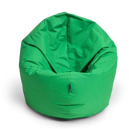 BuBiBag Sitzsack 2-in-1 Funktionen mit Füllung Sitzkissen Bodenkissen Kissen Sessel BeanBag (100 cm Durchmesser, apfelgrün)