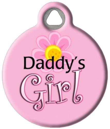Dog Tag Art Custom Pet ID Tag for Dogs - Daddy's Girl - Small - .875 inch