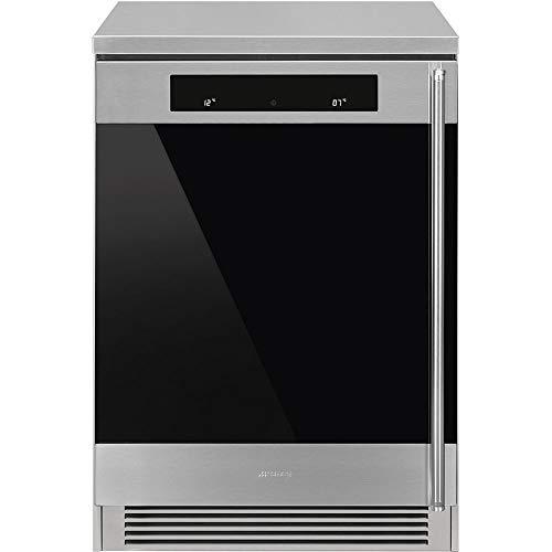 SMEG CVF338XS - Cantina inox e vetro nero, 60 cm. Estetica Classica. Classe energetica A
