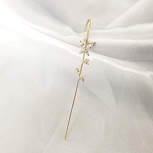 Chutoral Single Ear Hook Ear Pin Wrap-around Crawler Hook Earrings Ladies Pin Head Pinna Clip Jewelry(10)