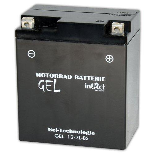 Batteria al gel per il motociclo 12V 6Ah Intact Bike-Power GEL12-7L-BS 6Ah (DIN 50614) YTX7L-BS