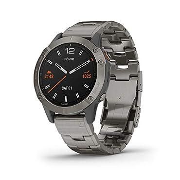Garmin fenix 6 Pro Sapphire GPS Smartwatch (Titanium/Vented Titanium Bracelet)
