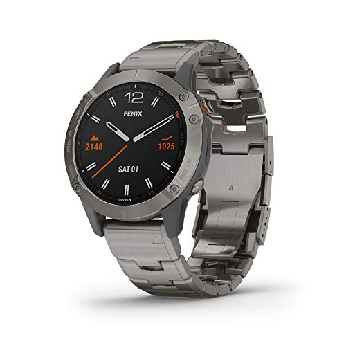 Garmin fenix 6 Sapphire, Premium Multisport GPS Watch, Features Mapping, Music, Grade-Adjusted Pace Guidance...