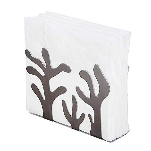 Napkin Holder Stainless Steel Tissue Holder Serviettes Rack for Wedding Party Dining Table Decor Upright Paper Towel Special Shape Design