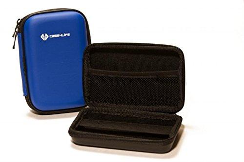 Hülle4Life Blau Stoßfest Hardcase Kameratasche für FujiFilm Finepix XF1, X100, X100T, XP200, XP90, X-A2, X-E2S Real 3D W1, W3