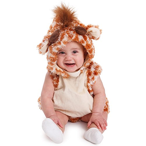 Dress Up America- Costume d'Halloween de bébé de Girafe Disfraz de Jirafa Unisex para niños, Talla 0-6 Meses (Peso: 3,5-7 kg, Altura: 43-61 cm) (859-0-6)