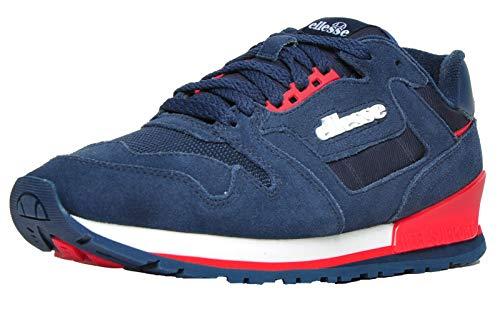 Ellesse Heritage 147 Ante Hombre Zapatillas Deporte Casuales Azul Oscuro/Rojo 44.5