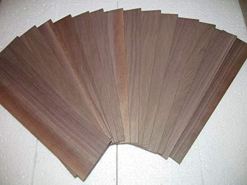 """Black Walnut Kiln Dried Sanded Exotic Wood Lumber Boards, 24"""" X 6"""" X 1/4"""", Set of 10"""