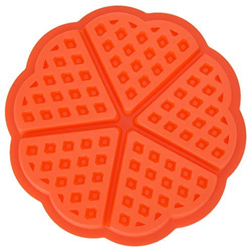 Molde para gofres, molde para gofres Nestlé de silicona de 4/5 cavidades, molde para hornear para el desayuno, moldes para pan de chocolate y pasteles(Heart-shaped)