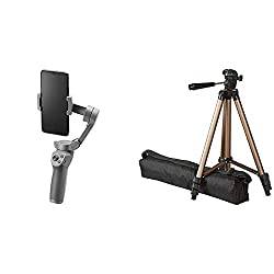 Product 1: FOLDABLE GIMBAL: With a new foldable design at just 405 g, you can take Osmo Mobile 3 anywhere. A lightweight design and anti-slip grip will help you to vlog and shoot content throughout the day Product 1: SINGLE-HANDED CONTROL: Thanks to ...
