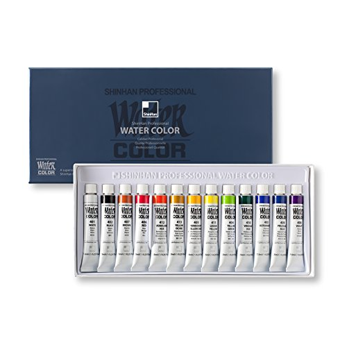 ShinHan Professional Watercolor Paint 7.5ml Tubes 13 Color Set