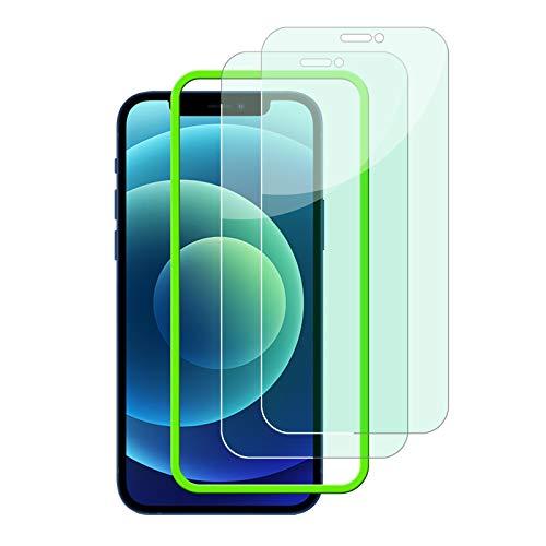 JESOHO Protector Pantalla iPhone 12 Pro Max (2 Pack), anti luz azul...