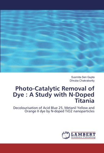 『Photo-Catalytic Removal of Dye : A Study with N-Doped Titania: Decolourisation of Acid Blue 25, Metanil Yellow and Orange II dye by N-doped TiO2 nanoparticles』のトップ画像