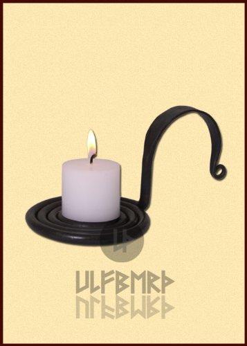 Ulfberth Mittelalterlicher Kerzenständer handgeschmiedet - Kerzenständer, Kerzenhalter - Wikinger LARP