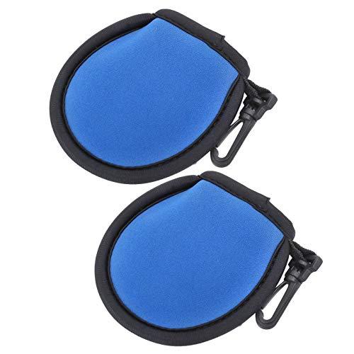 FastUU Golfball-Reiniger-Tasche, ausgestattet mit Clip, Golfball-Tasche, tragbarem Schutz für Golfbälle Reinigung von Golfbällen zur Aufbewahrung von Golfbällen