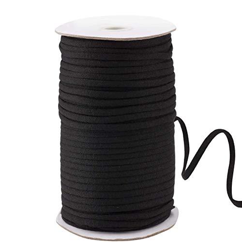 Cordon élastique plat de 50 m de long, 5 mm de large pour couture, tricot, vêtements, chaussures, chapeaux et loisirs créatifs