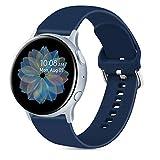 Oumida 20mm Correa Compatible con Samsung Galaxy Watch Active 40mm/Active2 40mm 44mm,Pulseras de...