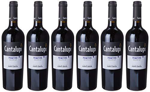 Conti Zecca Cantalupi Primitivo 2018-6 bottliglie da 750 ml