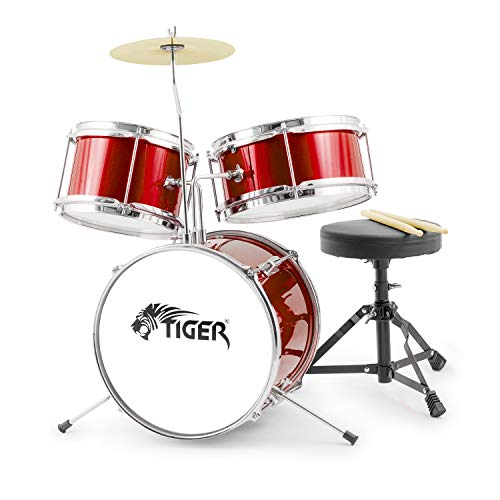 Tiger Junior Kids Drum Kit, 3 Piece Beginners Childrens Drum...